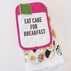 New Kate Spade baking kitchen towel oven mitt